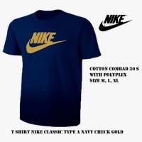 kaos pria nike navy / tshirt baju sport bola olahraga distro Lari Run