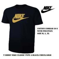kaos pria nike hitam / tshirt baju sport bola olahraga distro Lari Run