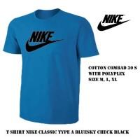 kaos pria nike biru M/ tshirt baju sport bola olahraga distro Lari Run