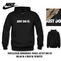 hoodie pria nike just do it hitam sweater pria jaket pria motor wanita