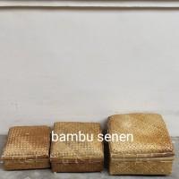 sokase/besek kaki/boks bambu/keranjang hampers 20×20cm