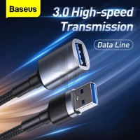 BASEUS USB Extension Cable USB Male To USB 3.0 Female 2A Kabel Data