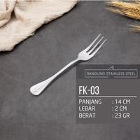 garpu makan kue dessert tebal 14cm fork hotel restoran stainless steel