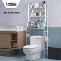 Angola Rak Kamar Mandi D07 Toilet Organizer Tempat Tissue Sabun Kloset - Hitam