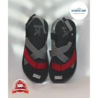 Sandal Kenzi Jempol Anak Cowok/Cewek Fashion Terbaru - Merah Abu