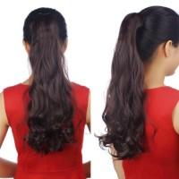 Panjang Mode 3/4 kepala penuh Klip Dalam Hair Extensions Lurus
