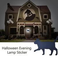 Dekorasi Halloween Lampu Malam LED Bentuk Binatang Bahan Kayu untuk