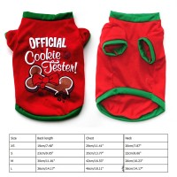 Kostum Natal Kaos T-Shirt Anjing Bahan Katun untuk