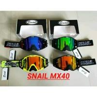 Kacamata helm Goggle google cross trail Snail mx40 m40 hitam black