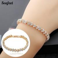 【Hot Selling 】Women Full Cubic Zirconia Bangle Bracelets
