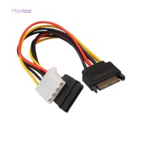 ✿MA✿SATA Male to 4Pin IDE Molex Female + SATA Female Power Cable