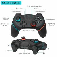 Nintendo Switch ~ Remote Kontrol Gamepad Joypad Pro Nirkabel Warna