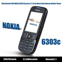 6303 Refurbished For Nokia Smartphone Bahan Metal untuk Nokia