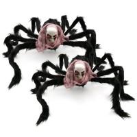 Halloween Laba-Laba Raksasa Bahan Bulu untuk Dekorasi