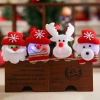 Dazzling Natal Gelang LED Light Santa Snowman Bahan Velvet untuk