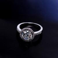 Bayar di Tempat925 Sterling Silver Cubic Zirconia Pernikahan