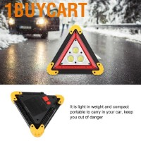 1buycart Car triangle road sign Road safety emergency warning with