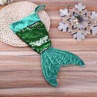 Kaus Kaki Dekorasi Natal Model Mermaid Ukuran 16 Inci