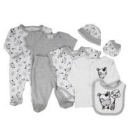 Baby Babyset 8in1 Motif Cow - 0-3 Bulan