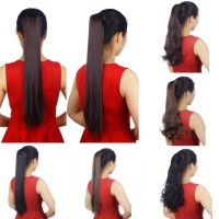 Mode 3/4 kepala penuh Klip Dalam Hair Extensions Lurus Keriting