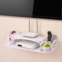 Organizer Remote DVD Multifunction Floating Rack TV Rak Dinding