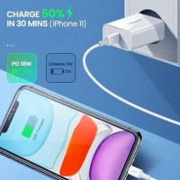 Ready Stock Ugreen Charger Pd 18W With 1M Mfi Usb C To Lightning Cable