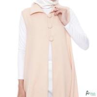 Outerwear Wanita Original | Button Vest Cream | Outer Muslim Polos -