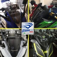 STIKER PLAT NOMOR UNTUK WINDSHIELD / VISOR MOTOR TERPERCAYA