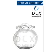 Aquarium Toples Bulat Fish Bowl Fishbowl Vas DLX Shella 7 L