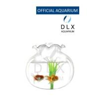 Aquarium Toples Bulat Fishbowl Fish Bowl Vas Kaca DLX Shella 15 L