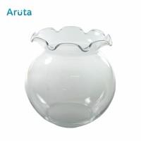 Aquarium Toples Bulat Fish Bowl Fishbowl Vas Kaca Shella 1.5 L