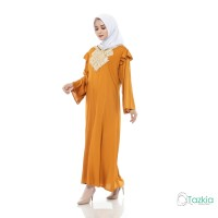 Dress Muslim Original | Gamis Turki Kuning | Tazkia Hijab Store