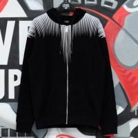 Marcelo Burlon Falls Wings Zip Hoodie Black Dark Grey 100% Authentic