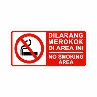 Rambu Dilarang Merokok 30cm x 15cm Acrylic 2mm