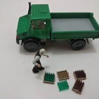 preiser miniatur krat botol skala ho 1:87. harga satuan (krat & botol)