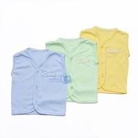 Baju bayi baru lahir lengan kutung kinara warna