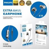 HEADSET HANDSFREE PHILIPS AT-119 ORIGINAL EXTRA BASS HI-RES AUDIO