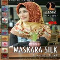 Jilbab Segiempat Motif Maskara Silk Poleycotton Laser Cut By Azara