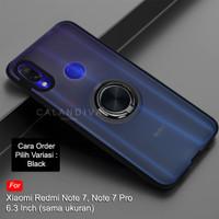 Calandiva Xiaomi Redmi Note 7 / Pro Hard Case Frosted Ring Kickstand