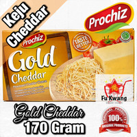 Keju Prochiz Gold Cheddar Cheese Olahan 170 gram