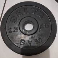plate rubbered Delta Gym 2.5kg(bisa stick kettler)