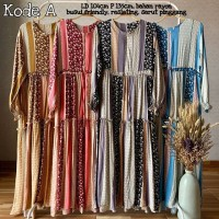 HOMEY DRESS - GAMIS RAYON - GAMIS BANGKOK - GAMIS MOTIF - Maxi - long