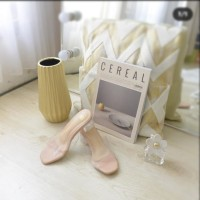 Sandal Wanita Block Heels Kaca Mika Premium 5cm Nyaman Dipake HT81