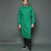 baju operasi/baju ok/ jubah operasi bahan parasut waterproof