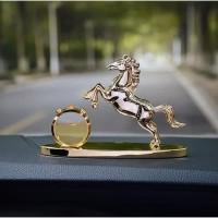 Parfum Kopi + Pajangan Kuda Dashboard Mobil| Hiasan Mewah rasa Premium
