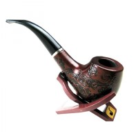 Pipa Rokok Kayu Ukiran Klasik Pipe Tembakau Popeye Cangklong Wooden