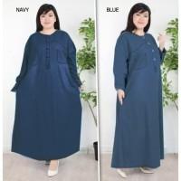Baju Gamis Wanita Jumbo / Long Dress Jumbo Big Size 7702