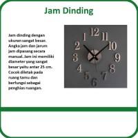 Jam Dinding Giant Wall Clock Quartz Creative Design 25cm DIY 09 Silver