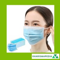 Masker 3Ply Earloop Premium 3 Lapis Anti Debu Bahan Breathable