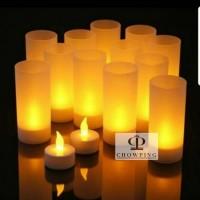 Lilin LED Elektrik / Electric Smokeless Candle + TEMPAT GELAS